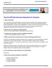 Questions answers interview pdf experienced asp.net and for