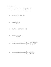 Chapter-5 worksheet