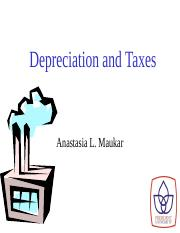 11_Depreciation and Taxes