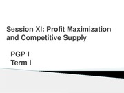 Profit max and Comp supply