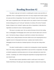 Reading Reaction 2- economic causes and effects of  imperialism