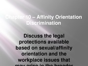 Chapter 10 - Affinity Orientation