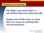 MGMT 370 -  Lecture 12 Leadership