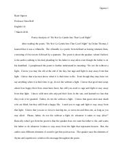 ENGL 111 Essay #1 Final Draft Revision
