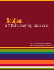 A Doll House- Realism per. 4