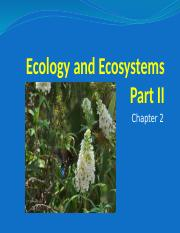Ecology and Ecosystems Part II Third lecture Animal Biology.pptx