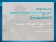 Presentation class 13- Intro to Intl Planning