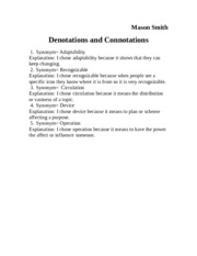 Donotations and connotations