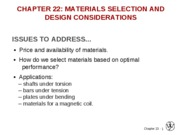 2010-04-19 Chapter 22 Materials Selection and Design