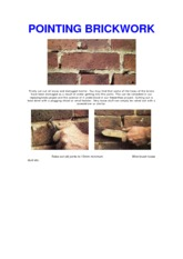 Pointing Brickwork