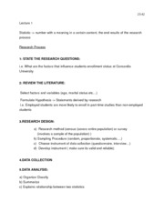 SOCI 212- STATS CHAPTER 1 VARIABLES & RESEARCH PROCESS NOTES