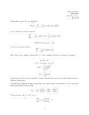 Study Guide on Scalar Fields