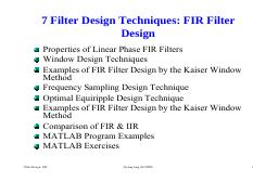 DSP-7-2 Filter Design FIR.pdf