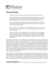 Morgan Stanley Case