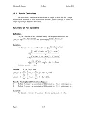 Calculus II Notes 15.3