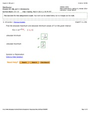 Webassign solutions calculus   Online Writing Lab Calculus Archive March Chegg com