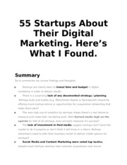 55 Startups About Their Digital Marketing