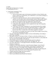 Study Guide for Chapters 15 and 16