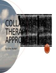 Collaborative Therapy Approach wk 6