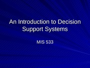 DecisionSupportSystems