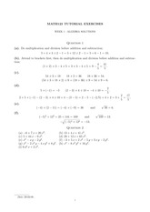 Tutorial Weeks 1-2 Problem Set Answers