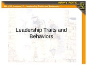 leadership traits behaviors and styles case1 Leadership styles and behavior profiles article critiquing  chapter four leadership behaviors, attitudes, and styles  why trait and behavior approaches fall.