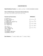 Exam 3 Spring 2014 on Advanced Physical Chemistry
