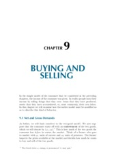 Chapter 9 Buying and Selling