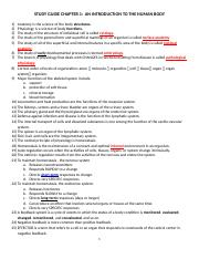 STUDY GUIDE CHAPTER 1 BIO 250-2