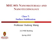 Lecture 7 - Surface stabilization