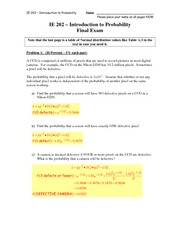 IE 202 Problem 1 FINAL take 2 SOLUTIONS take 2