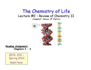 Lecture _2 - Review of Chemistry II