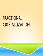 Exp13-Fractional Crystallization