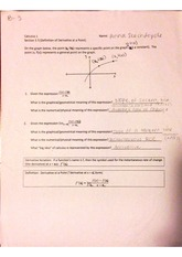 derivative at a point worksheet