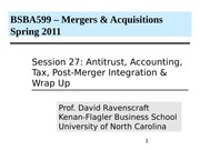 Class 27 MA BSBA 2011 Acct, Tax,  Integration & Wrap up