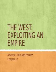 FH APUSH Chapter 17-The West