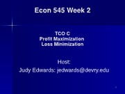Econ 545 Week 2 Live Lecture 2009