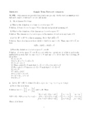 Linear Algebra Sample Exam 5 with solutions