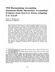 Bradshaw, M. and G. Miller (2008) 'Will Harmonizing Accounting Standards Really Harmonize Accounting