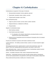 Ch. 4 Carbohydrates