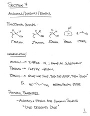 CHEM 240- Section 7 Notes
