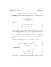 ECON 6012 Fall 2014 Problem Set 3 Solutions