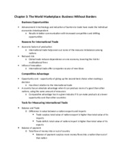 Chapter 3 - Notes - Into To Business