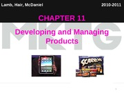 Chapter 11_Developing and Managing Products