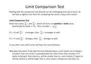 Lesson 21a - Limit Comparison Test