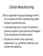 4. Cellular Manufacturing