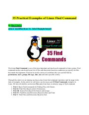 35 Practical Examples of Linux Find Command