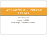 Early Cold war East Asia