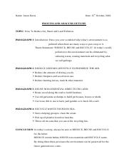 Process and Analysis OUTLINE on How To Reduce Environmental Pollution .docx