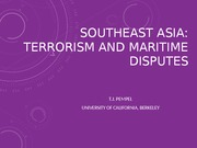 SEA Terrorism and Maritime Conflicts